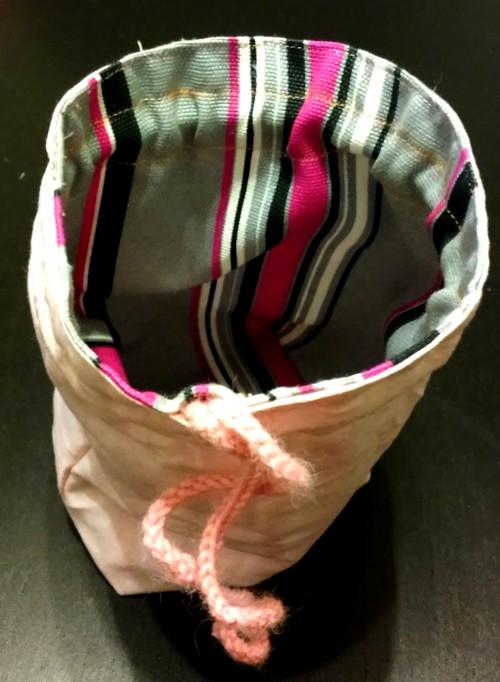 tutoriel couture sac de rangement réversible